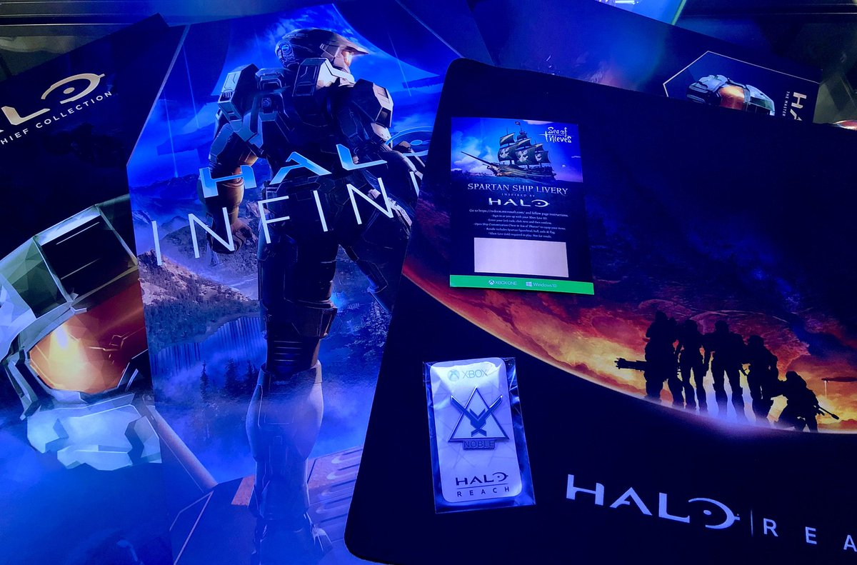 We're giving away five bags of Halo gear from E3, including a Halo: Reach mouse pad, Noble Team pin, #HaloInfinite poster, and more!  To enter the giveaway, follow these steps: - Follow @Halo & @HaloGear - Retweet & Like this tweet  Winners will be drawn on July 12. GLHF! https://t.co/yvWve7DZjL