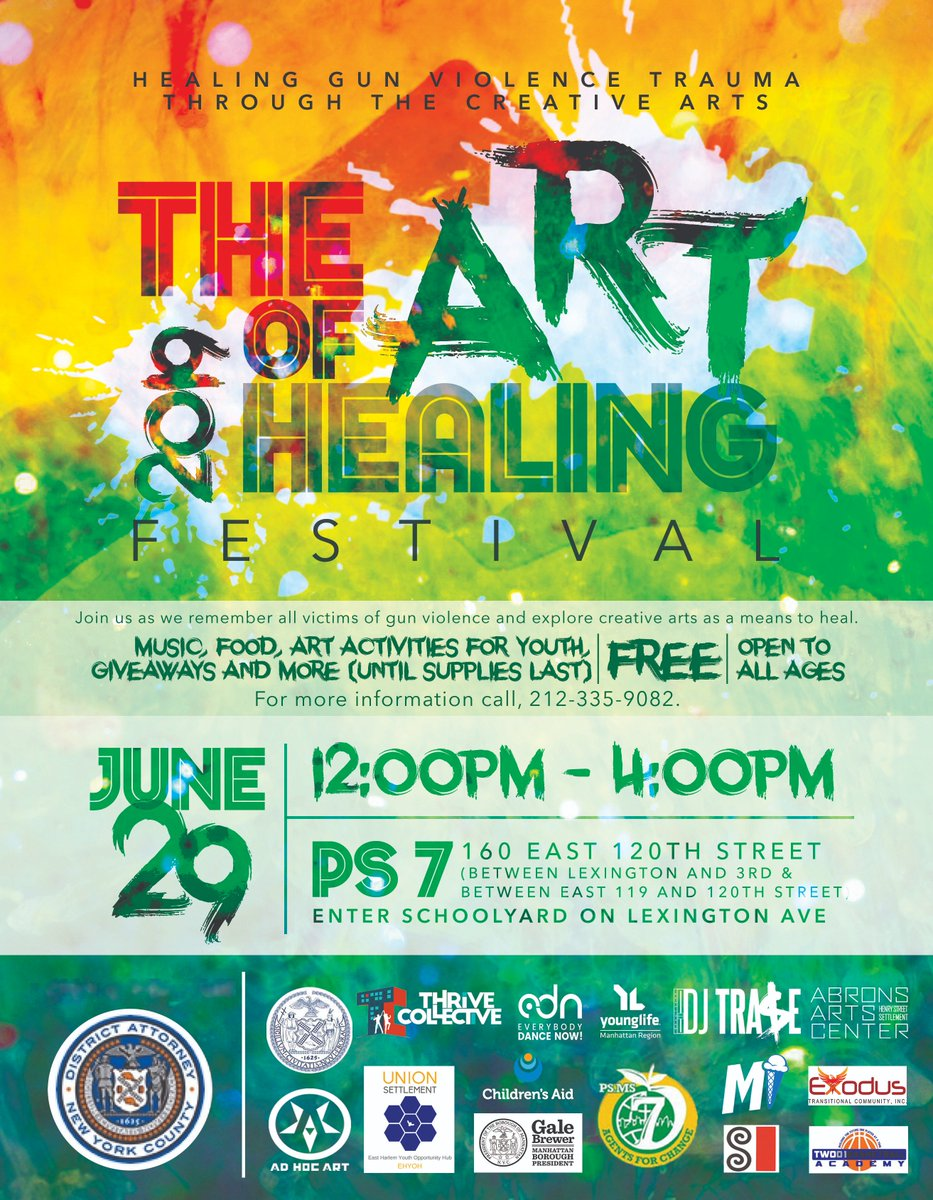 📅 Meet our Fellows TOMORROW at our Art of Healing Festival in #EastHarlem. Follow along on their new IG 📸 instagram.com/gvpfellows/