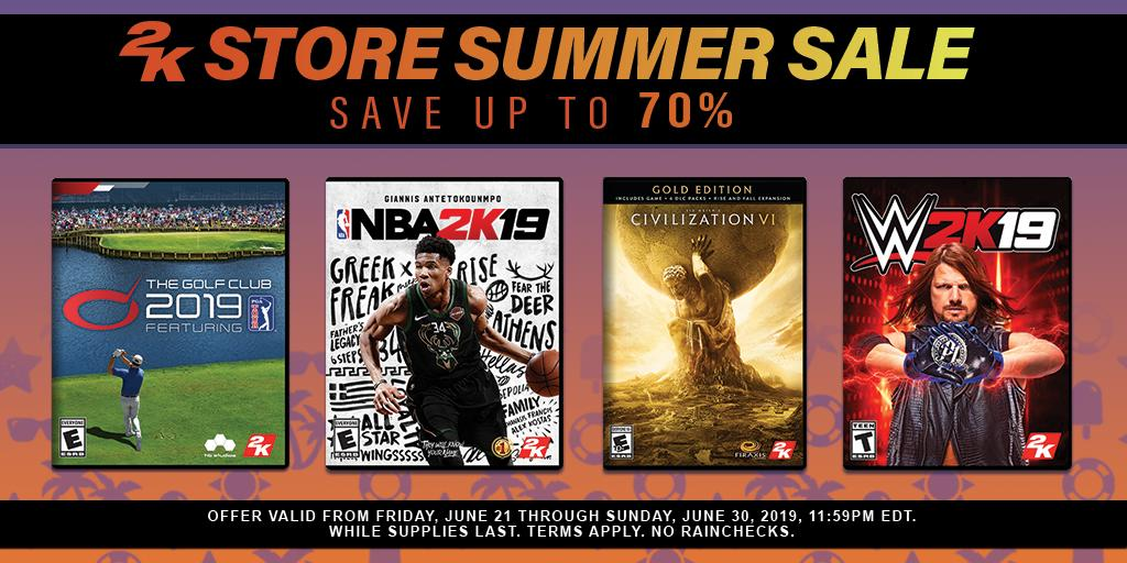 Check out some great deals in the @2K Store Summer Sale featuring