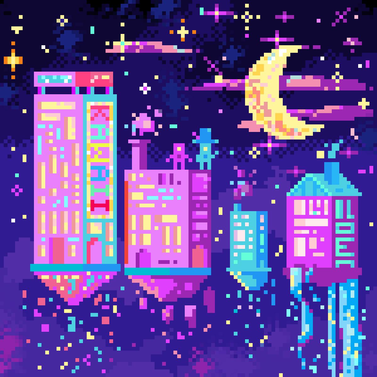 Cosmic City by Peacenlove4all #pixilart #pixelart