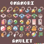 Image for the Tweet beginning: 8*8px おまもりアミュレット(OmamoriAmulet) #dotpict #pixelart #amulet