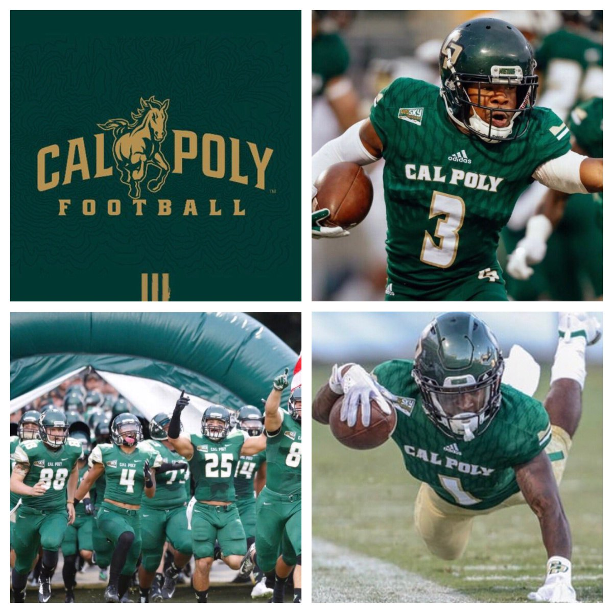 Blessed and honored to receive my first offer to Cal Poly!! @BrandonHuffman @CoachFerrigno