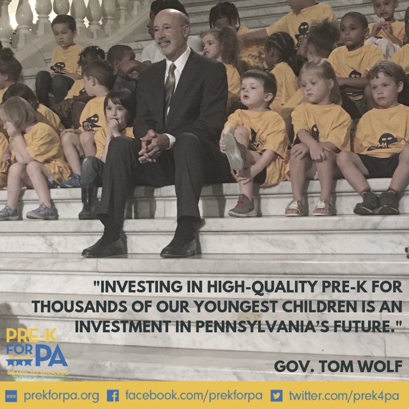 #ThankYou @GovernorTomWolf! #IAmPreK #PreKWorks #PABudget