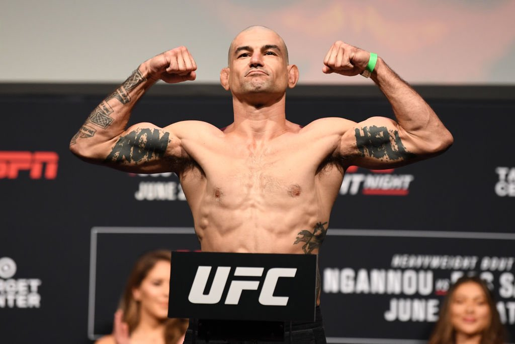 Weigh ins done! Nothing left to do now but what I do best, floss with half caution and collide fists with another dude! #UFC #UFCOnESPN #TargetCenter #Minneapolis #FromHellPichel #SavagePatchKid