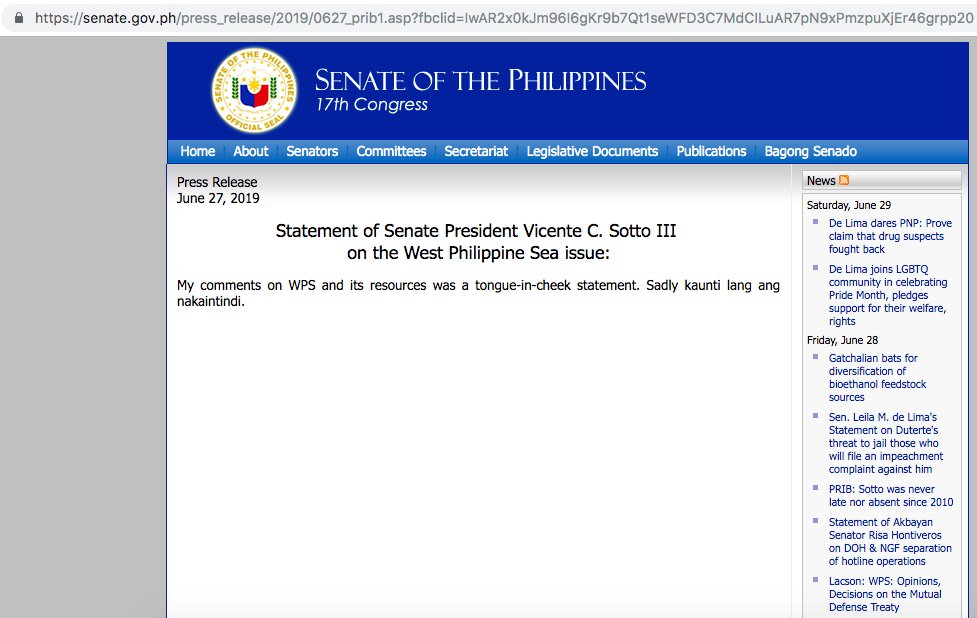 When you think it's a joke, but hot damn, the link works. — http://senate.gov.ph/press_release/2019/0627_prib1.asp… #TitoSotto #EyesOnTheSenate #Senate2019