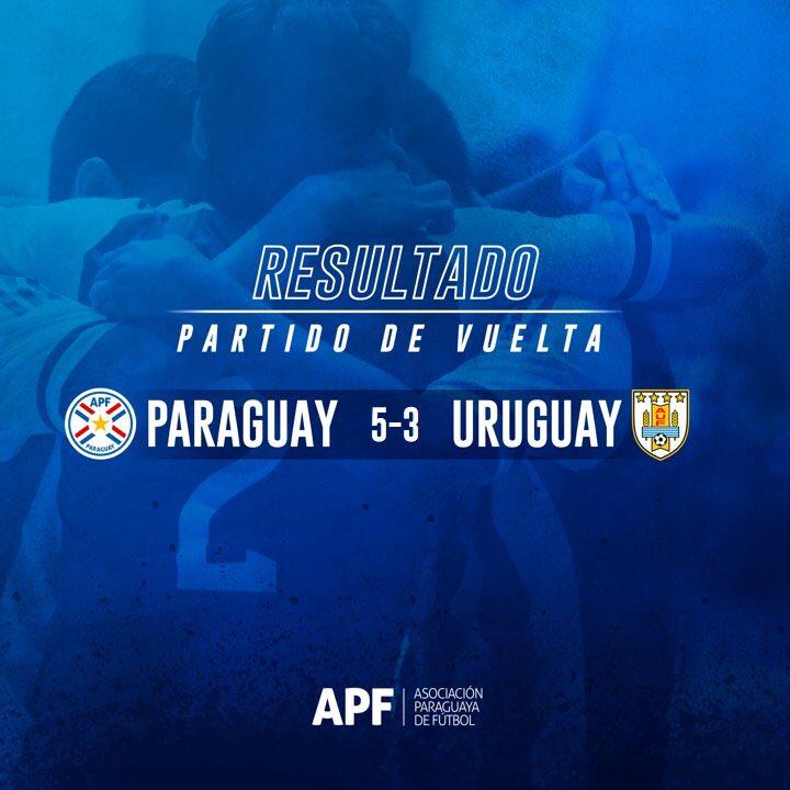 #FutsalAPF #AlbirrojaFutsalFIFA  #AmistosoInternacional   🗓Partido de Vuelta.   ⌛️Final del encuentro victoria de la Albirroja, que cierra el par de amistosos con resultados positivos!   🇵🇾 #Paraguay (5) - #Uruguay🇺🇾 (3).   #VamosParaguay