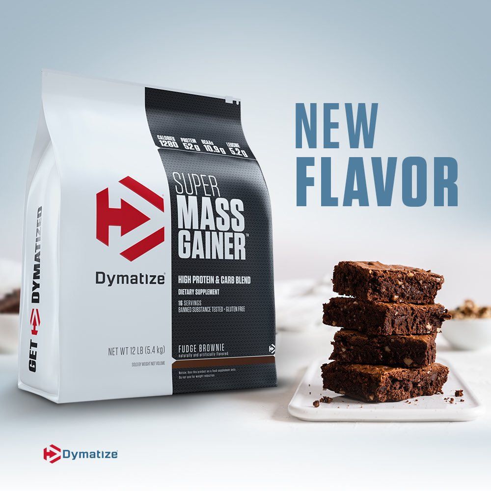 Dymatize Super Mass Gainer is now available in Fudge Brownie in a 12lb bag! Shop now and get 20% off 👉 http://bit.ly/bbSuperMassGainer … http://Bodybuilding.com  #dymatizebb #dymatize #bodybuildingcom