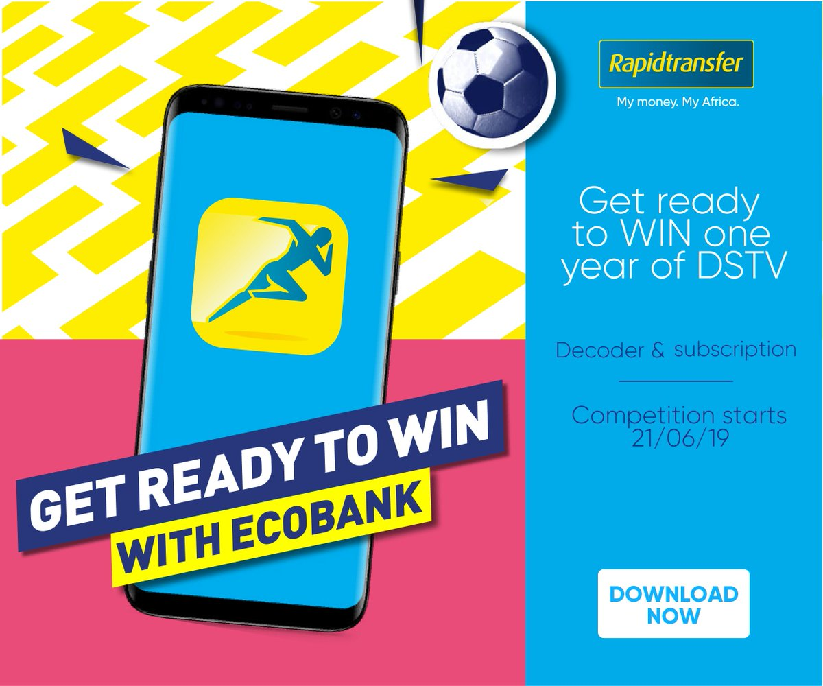 Win a year of DSTV with Ecobank when you use the Rapidtransfer app