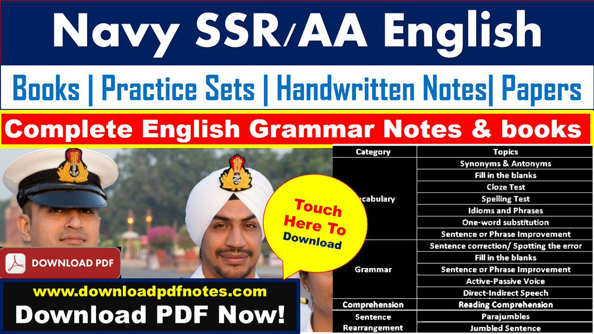 pdf*] Complete English Grammar Notes & books for Navy Exam