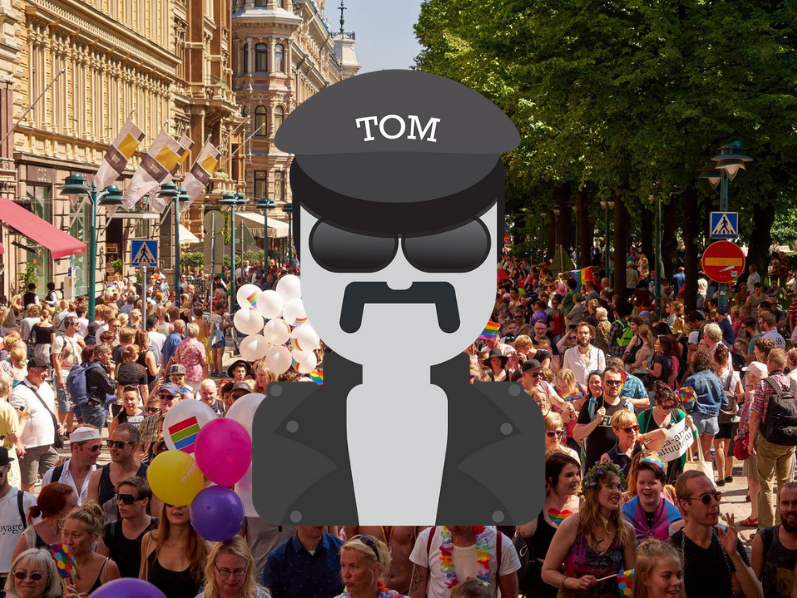 Boy, have times changed since #TomofFinland (Touko Laaksonen, 1920–1991) first published his homoerotic drawings in the 1950s. Today, #Finland is celebrating with an annual #pride parade. Happy #helsinkipride! #finemoji  https:// finland.fi/emoji/tom-of-f inland/  …   Hannu Hurme @helsinkipride<br>http://pic.twitter.com/4h0RqvKHf4
