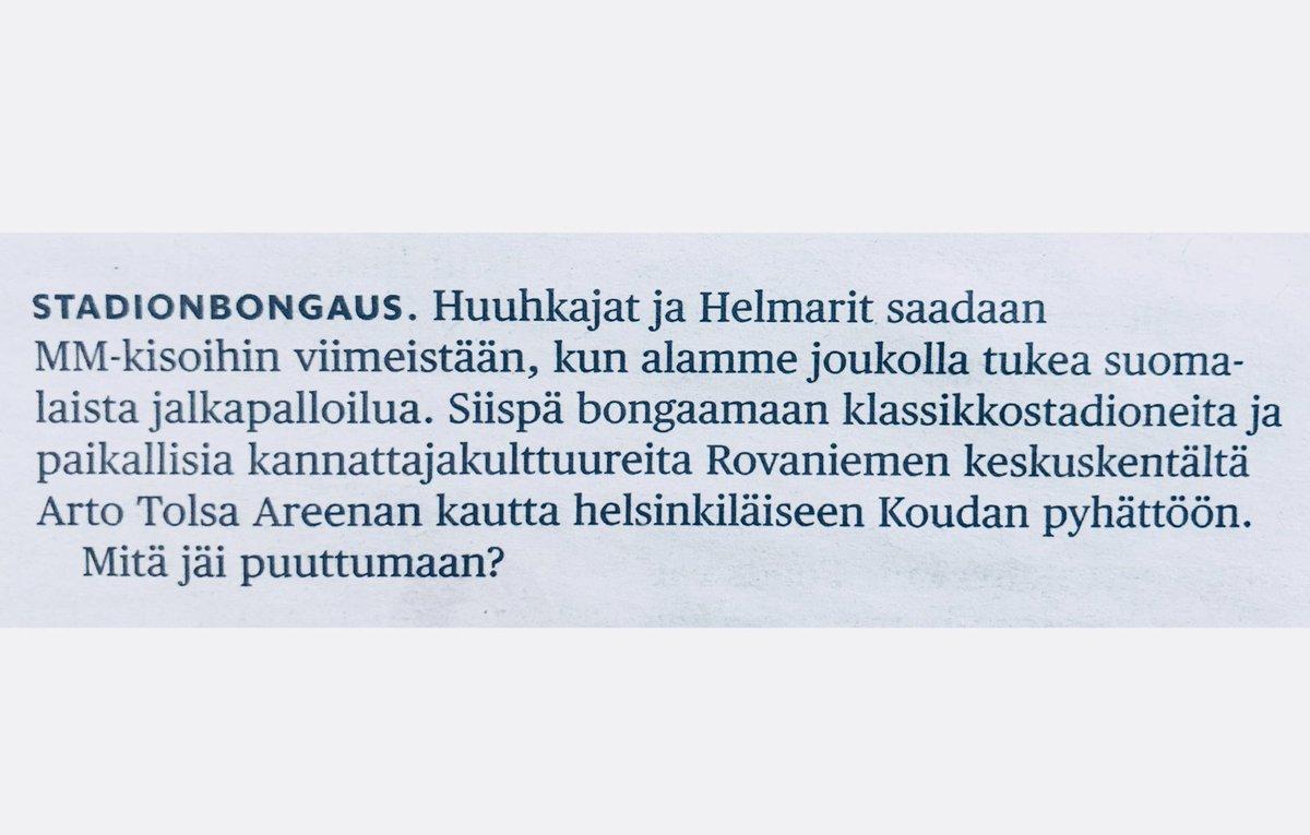 @rikurantala :n loistava tärppi kesän 2019 reissuihin Hesarissa. 👉 nakatkaa kommenttikenttään suomalaisia klassikkostadioneita  #kesä #stadionbongaus #jalkapallokulttuuri
