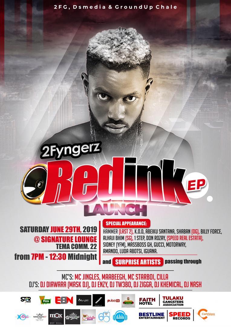 Is going down tonight #Red_ink ep @sarkodie  @2fyngerzgh  @Hitz1039FM