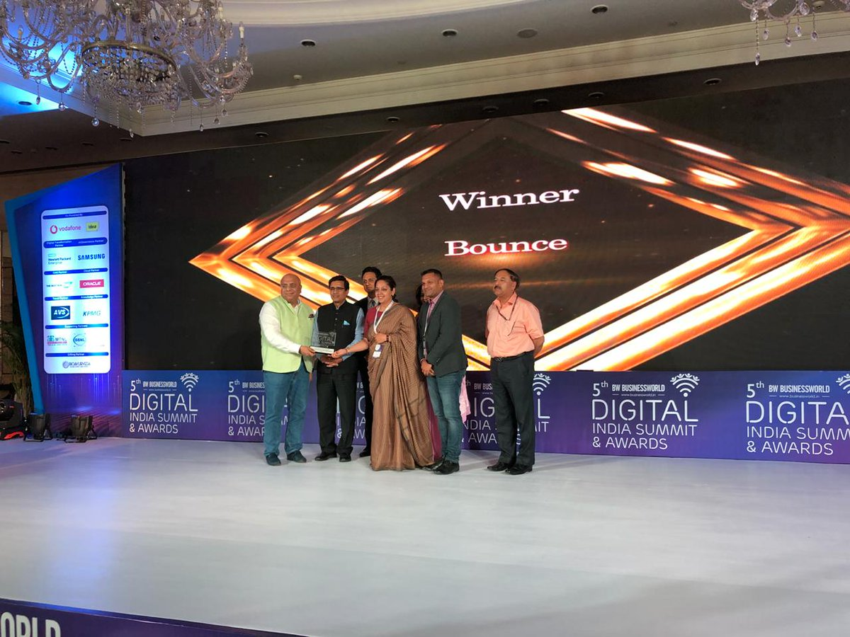 We won the 5th Annual Digital India Summit 2019 for ""