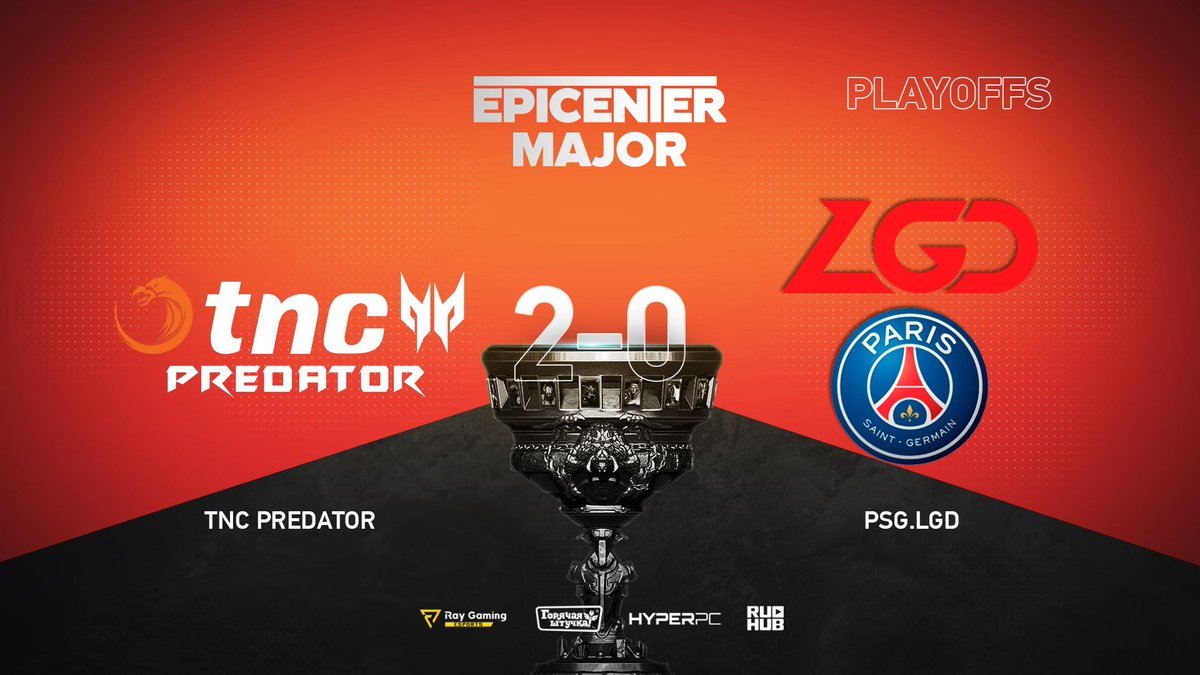 TNC Predator vs PSG.LGD EPICENTER Major 2019