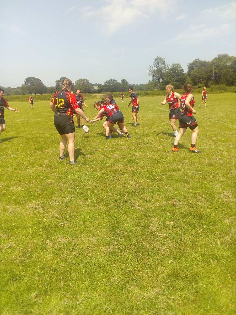7s rugby is underway! #runningrugby #hothothot #magical7s