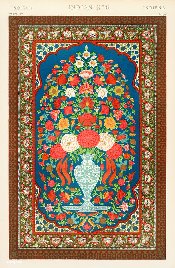 Owen Jones famous 19th Century Grammar of Ornament. From our own original antique chromolithographic version of the famous book. Download this image: http://rawpixel.com/board/2402/grammar-ornament…