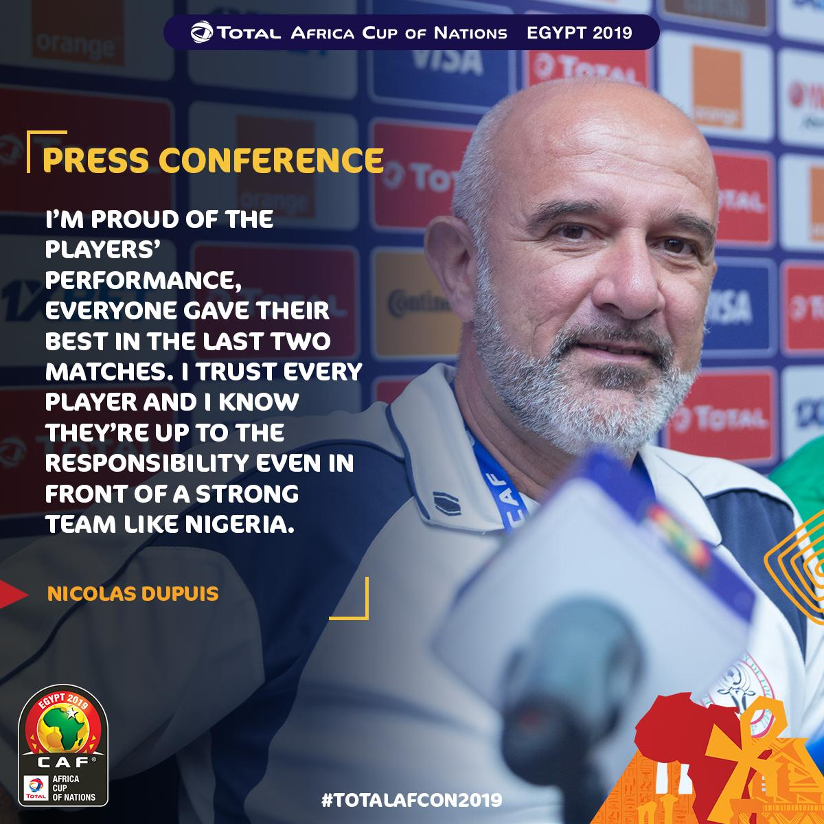 When a proud manager is talking  #ALEFABAREA  #TotalAFCON2019<br>http://pic.twitter.com/odVnF9es8W