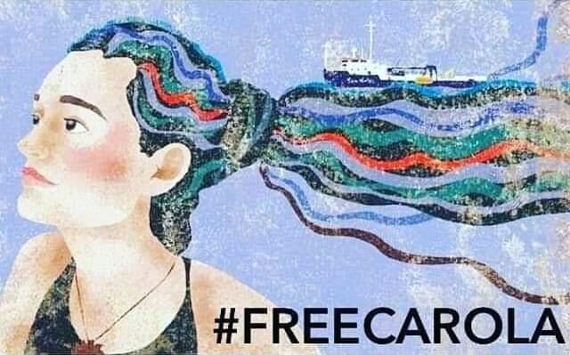 #freeCarola #nohumanisillegal