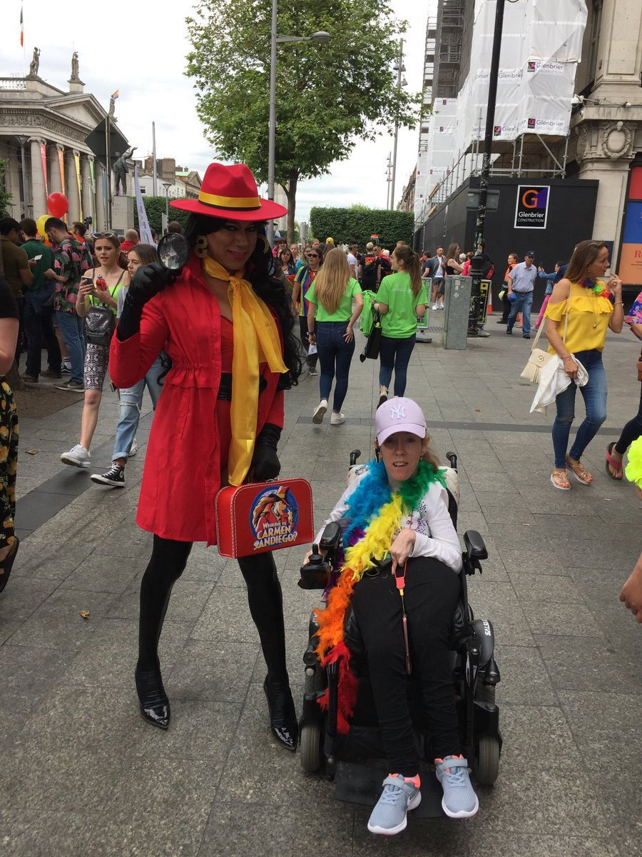#dublinpride is rocking ! ilmi hopes everyone has a great day because we are ! All communities who experience #discrimination and don't have #rights like everybody else need to come out and #support one another #we are #allhuman we are #allequal and #lovewins #disabledpeoplerock https://t.co/UYyngPzXXO