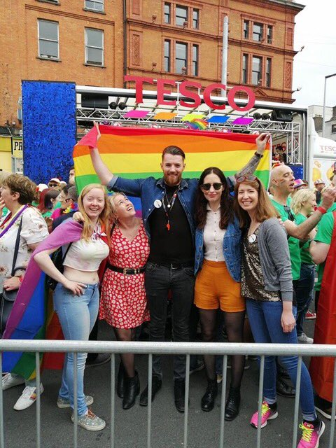 Some of the National Gallery team flying the flag at today's #DublinPride2019 parade! 🌈 ❤️🧡💛💚💙💜