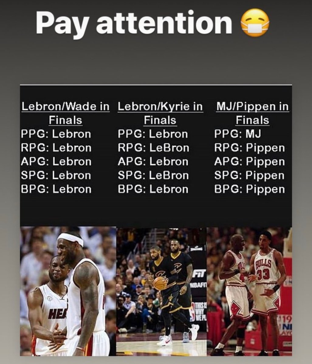 My son sent me this graphic! What does this tell you? It tells me that Scottie Pippen is underrated because of playing in Jordan's shadow. It also tells me that @KingJames is the best all around basketball player of all time.