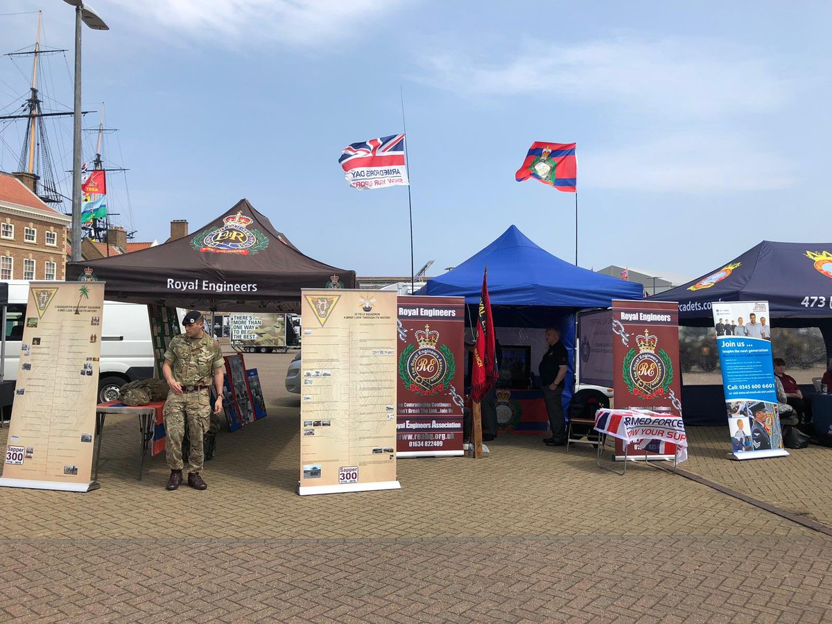 @32EngrRegt in Hartlepool supporting the Armed Forces day and local @REA. Thank you again REA for buying our camper van (Percy) #Proud_Sappers #sapperstrong.