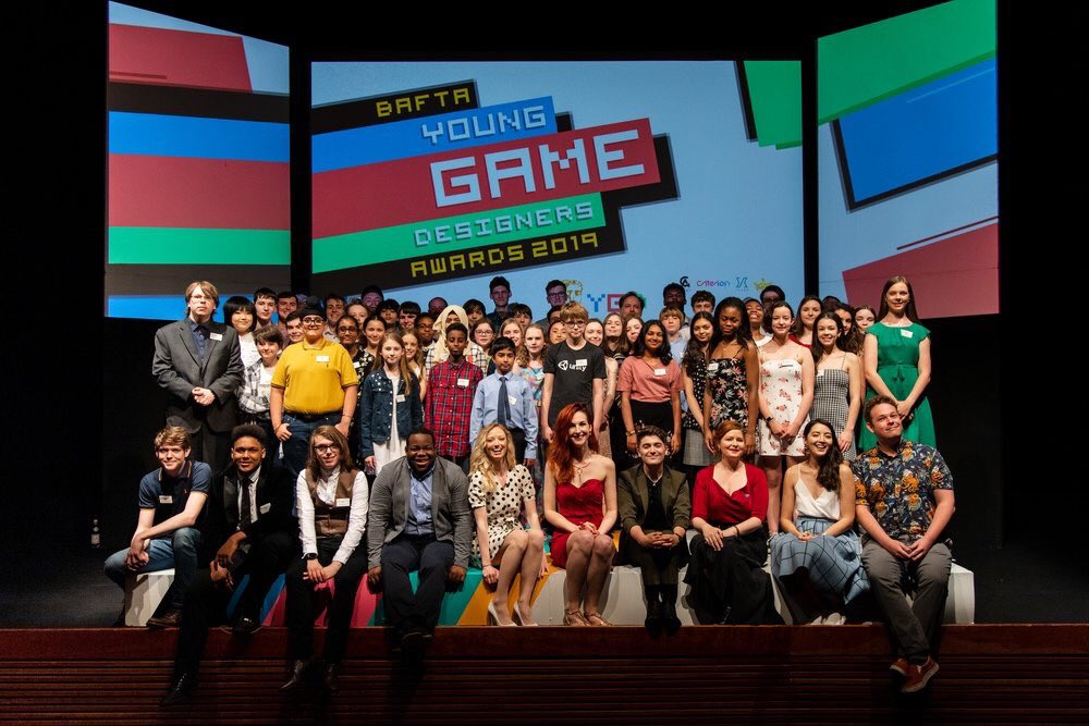congratulations to this talented, hard-working bunch at @BAFTAGames' Young Game Designers awards! #ygd2019 🥇🥇🥇