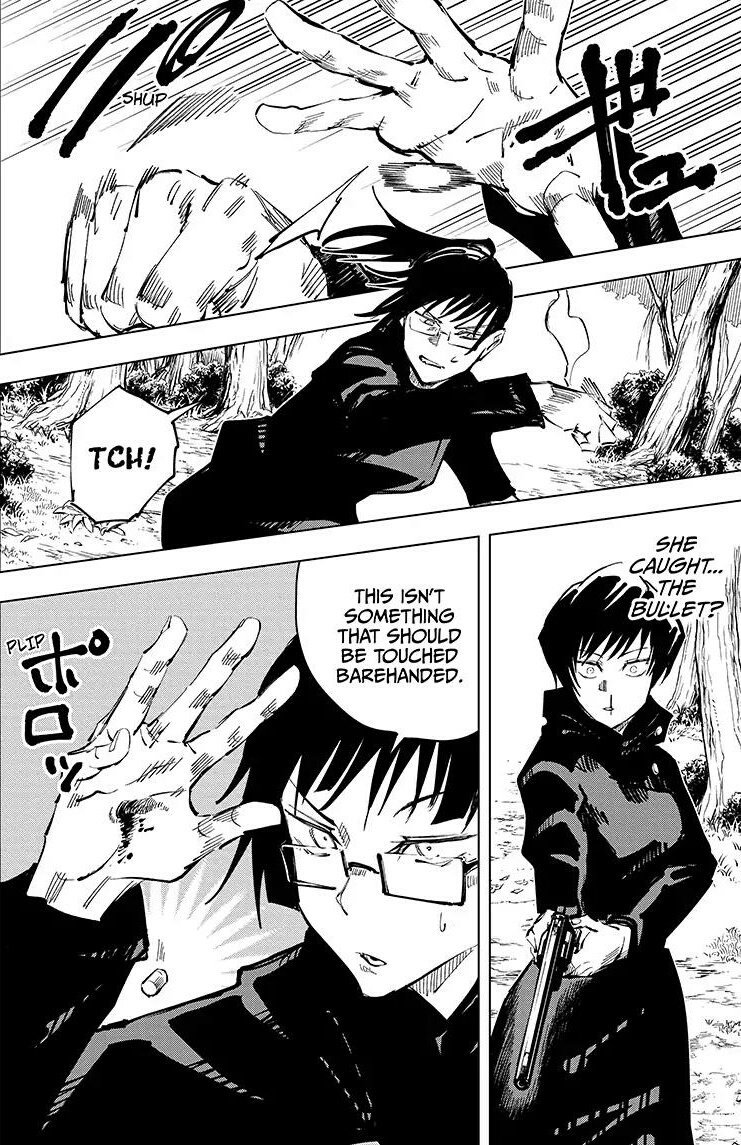 Jujutsu Kaisen On Twitter Maki S Forced Contract Maki Had A Forced Contract From Birth That Removed The Ability To See Curses And Use Technique In Return She Received Incredible Superhuman Physical Abilities