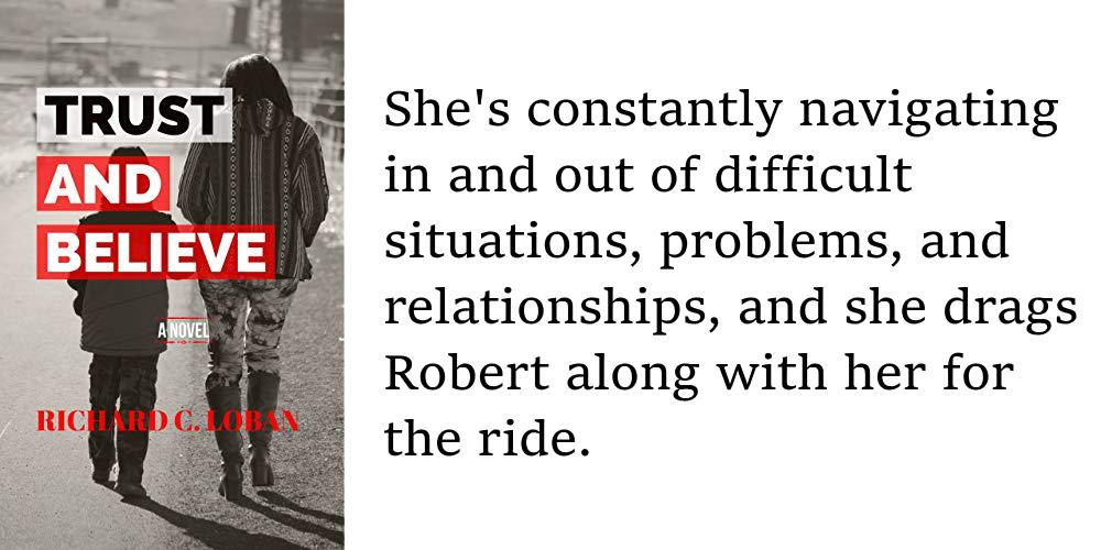 She's constantly navigating in and out of difficult situations, problems, and relationships, and she drags Robert along with her for the ride. https://amzn.to/2XaNxQE  #family #fiction #kindle #book #novel