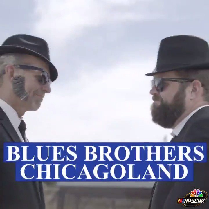 On a mission from God! 😎  @KylePetty and @RutledgeWood are the Blues Brothers of @ChicagolndSpdwy! // @NASCAR