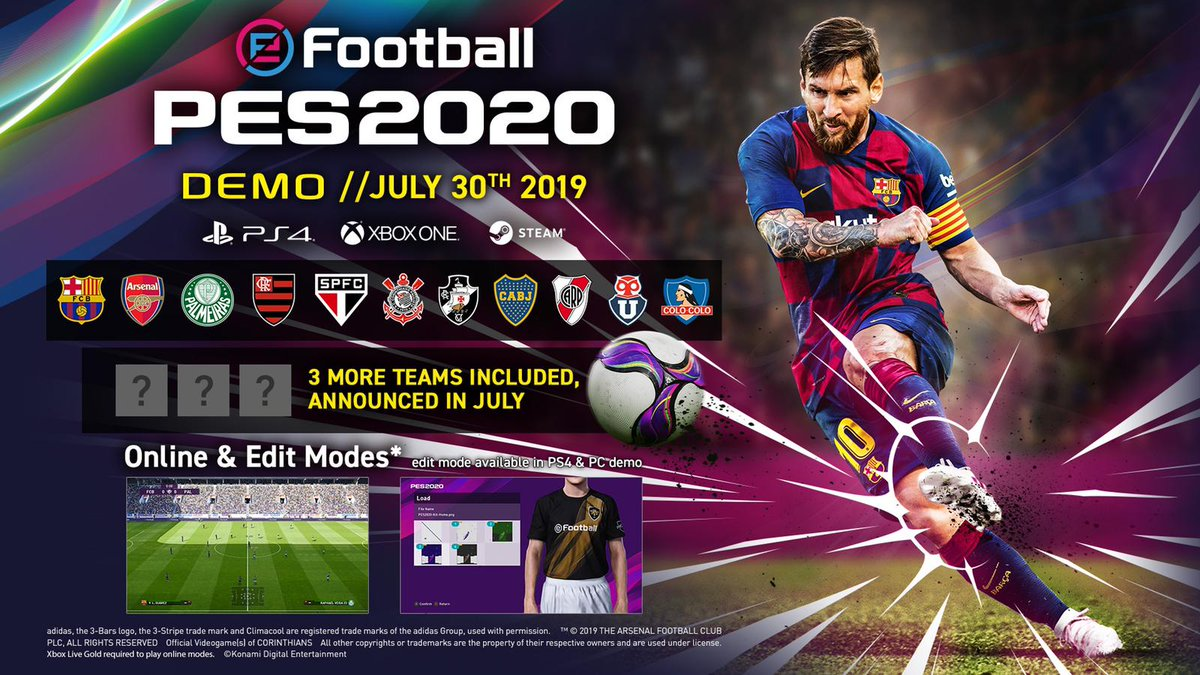 Xbox Games With Gold July 2020.Pes League Di Twitter Announcement Efootballpes2020