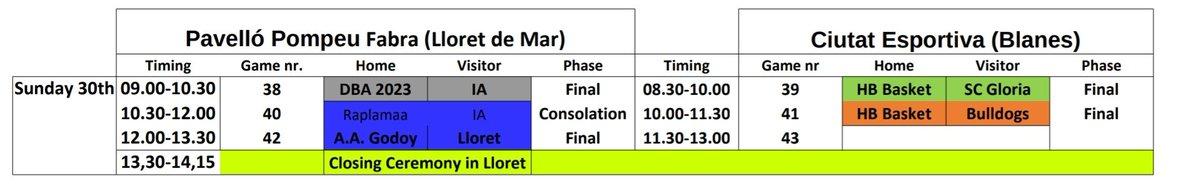 Calendario Timing.Globasket Globasket Twitter