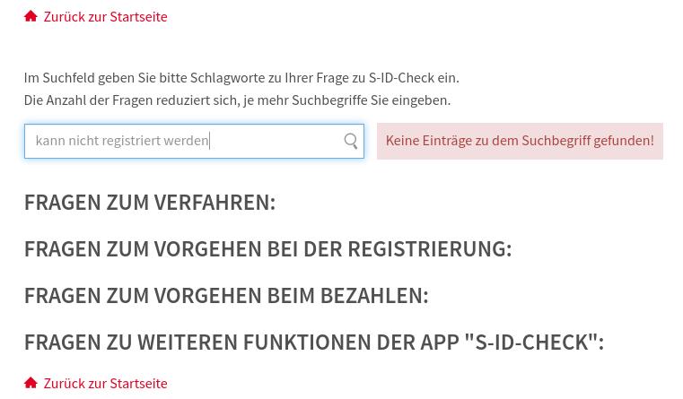 Diese karte kann nicht registriert werden s id check