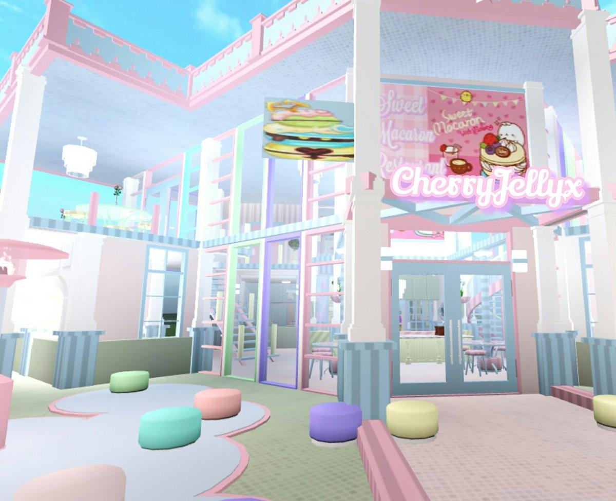 Roblox Bloxburg Picture Codes For Restaurants Cherryjellyx On Twitter Pastel Macaron Themed Restaurant