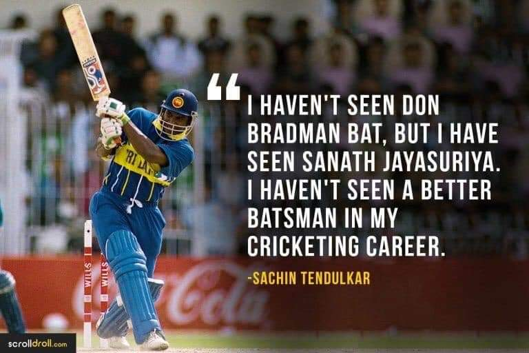"""I haven't seen Don Bradman bat, But I have seen Sanath Jayasuriya"" Happy 50th Birthday to Master Blaster Sanath Jayasuriya @Sanath07 #Cricket #SriLanka https://t.co/bZn3kl3clX"