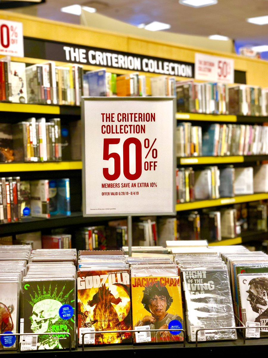 The entire Criterion Collection of Blu-ray and DVD is 50% off until August 4th 😳🤭🤯
