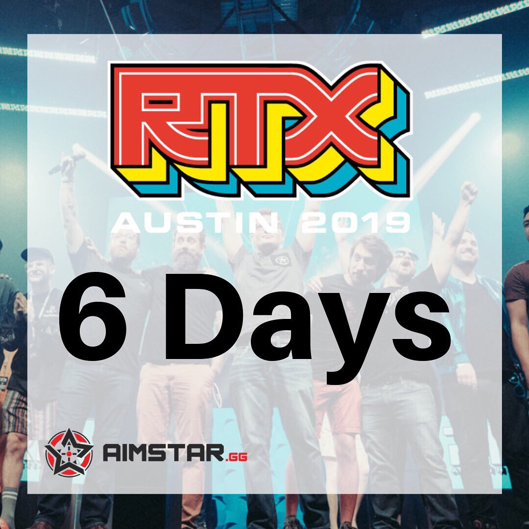BREAKING NEWS! We're going to be at #rtxaustin this year! Stay tuned for some HUGE announcements, BIG prizes and COLOSSAL surprises!  Only 6 days away! Come see us at Booth 717! @RoosterTeeth   #rtx #esports #aimstargg #fortnite #overwatch #apexlegends #gamer #games #giveaway