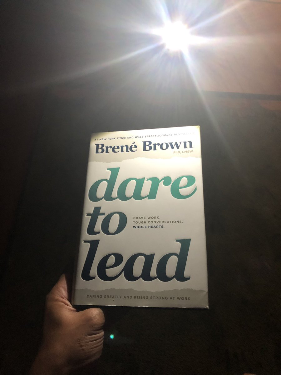 Putting the kids to bed and prepping for next school year! #booklight #DareToLead @BreneBrown