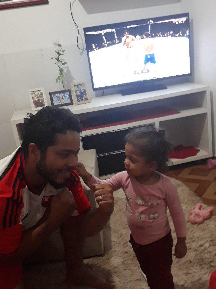 #CiganoNoCombate Aqui é o Odisson Gomes e minha pequena lutadora Emilly Gomes de Goiânia Go