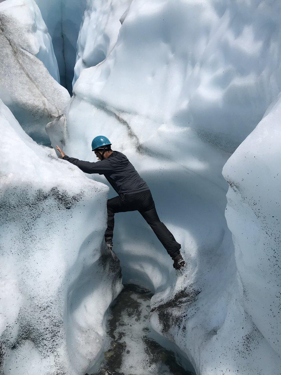 Glacier Hiking!?!?! Yes, Plz! #AlaskaLiving  – at Matanuska Glacier