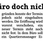 Image for the Tweet beginning: #Würselen Quartiersbüro doch nicht eröffnet.