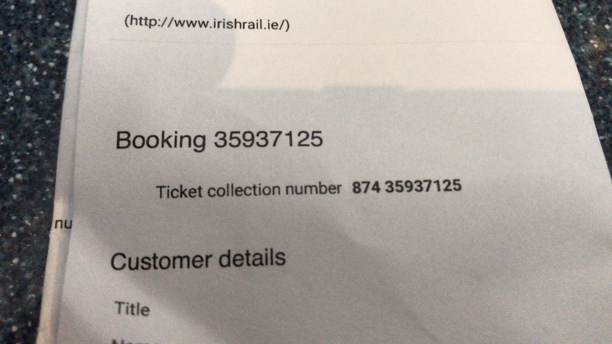 Shout out to @IrishRail staff at Heuston as I couldn't read my 'Ticket Collection Number' (no glasses 🙄). Plea to Cutomer Service to highlight that number & not the Booking Reference as it's the Ticket Collection we need when collecting tickets 😳!