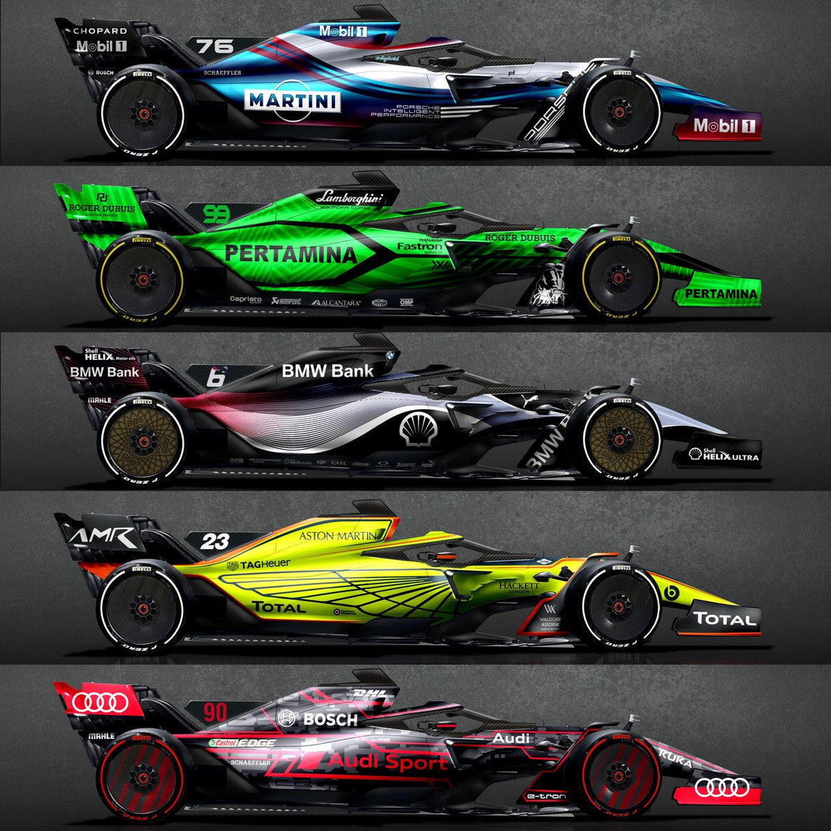 Sean Bull Design Twitterissa 2021 F1 Concept And Manufacturer Liveries Favourite And Who Else Do You Want To See Enter F1 F1 F12021 Formula1 Livery Austriagp Https T Co Bawk0mlfvi
