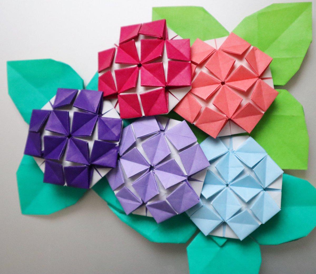 折り紙 アジサイ