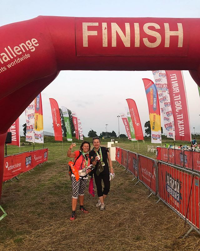 Took us 12.5 hours to walk 30 miles for #Alzheimers #ultrachallenge #cotswoldswaychallenge. Huge sense of achievement despite the sore feet! Wonderful to see so many other charities present @helpforheroes @breast_cancer_care @macmillancancer @suicideprevention_uk