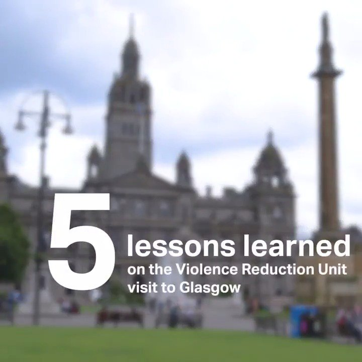 We're addressing violent crime in London through combining tough policing with a public health approach. The Director of London's first Violence Reduction Unit, .@LibPeck, visited Glasgow to learn more about the success of their VRU. Watch now.