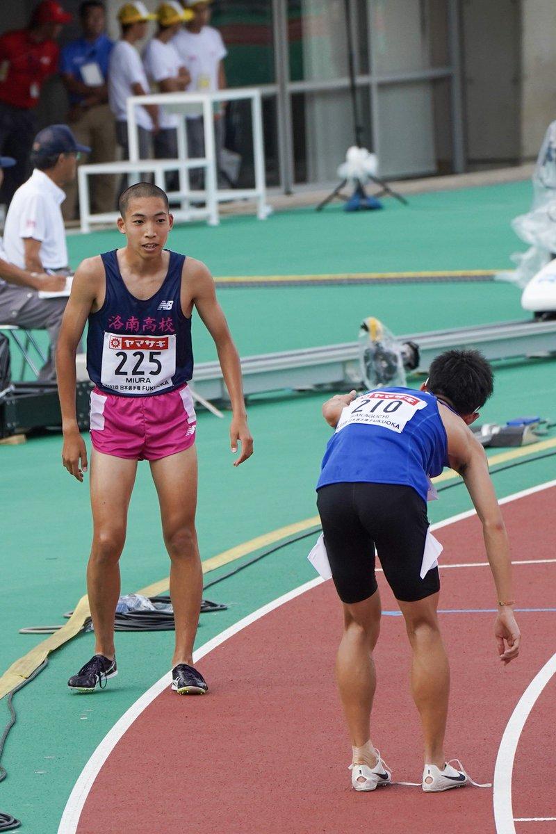 #日本選手権 男子3000mSC予選1組 4years.さんもツイートされていたけど、ゴールした後 #阪口竜平 選手から #三浦龍司 選手に声をかけられていました。わたしだったら、こんな風に先輩が声をかけてくれたらすごく嬉しくなると思う😊