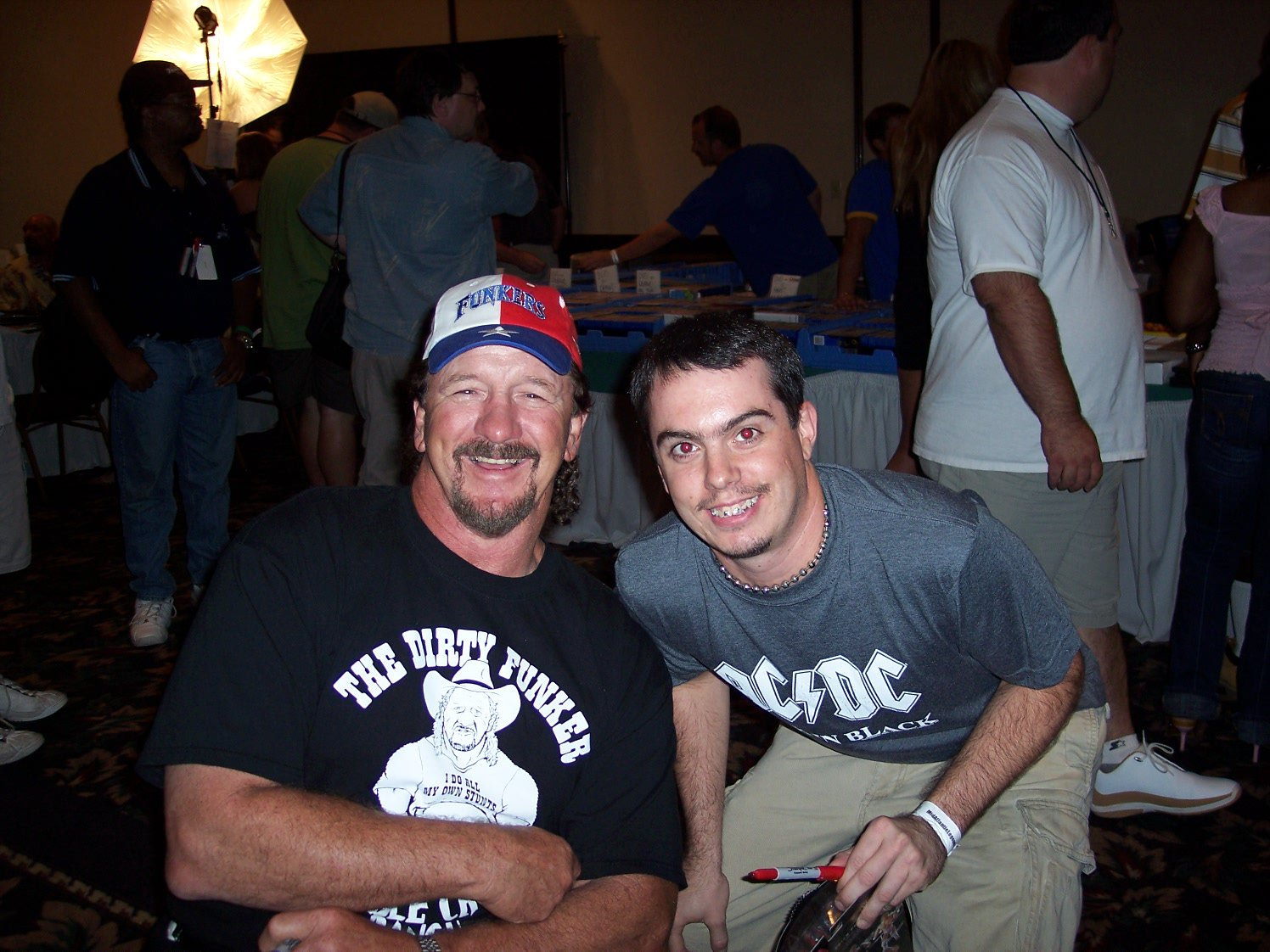 Happy 75th Birthday to the Legendary Terry Funk. This pic was taken at Fanfest in 2005.