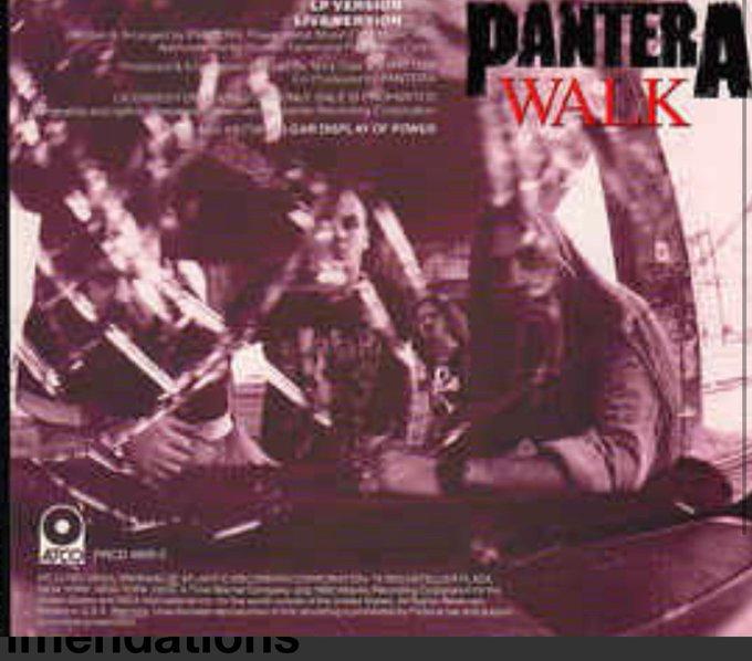 Pantera Walk from Vulgar Display Of Power. Happy Birthday to Phil Anselmo