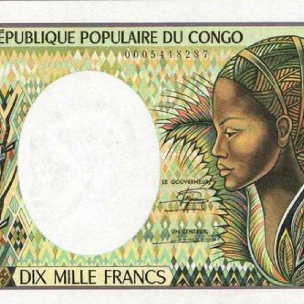 República Democrática del Congo, 10,000 Francs, ND, 1983.  #Congo #Francs #Cod #Kikongo #Kongo #Congokinshasa #Kinshasa #Banknotes #Banknote #Currency #Kongu